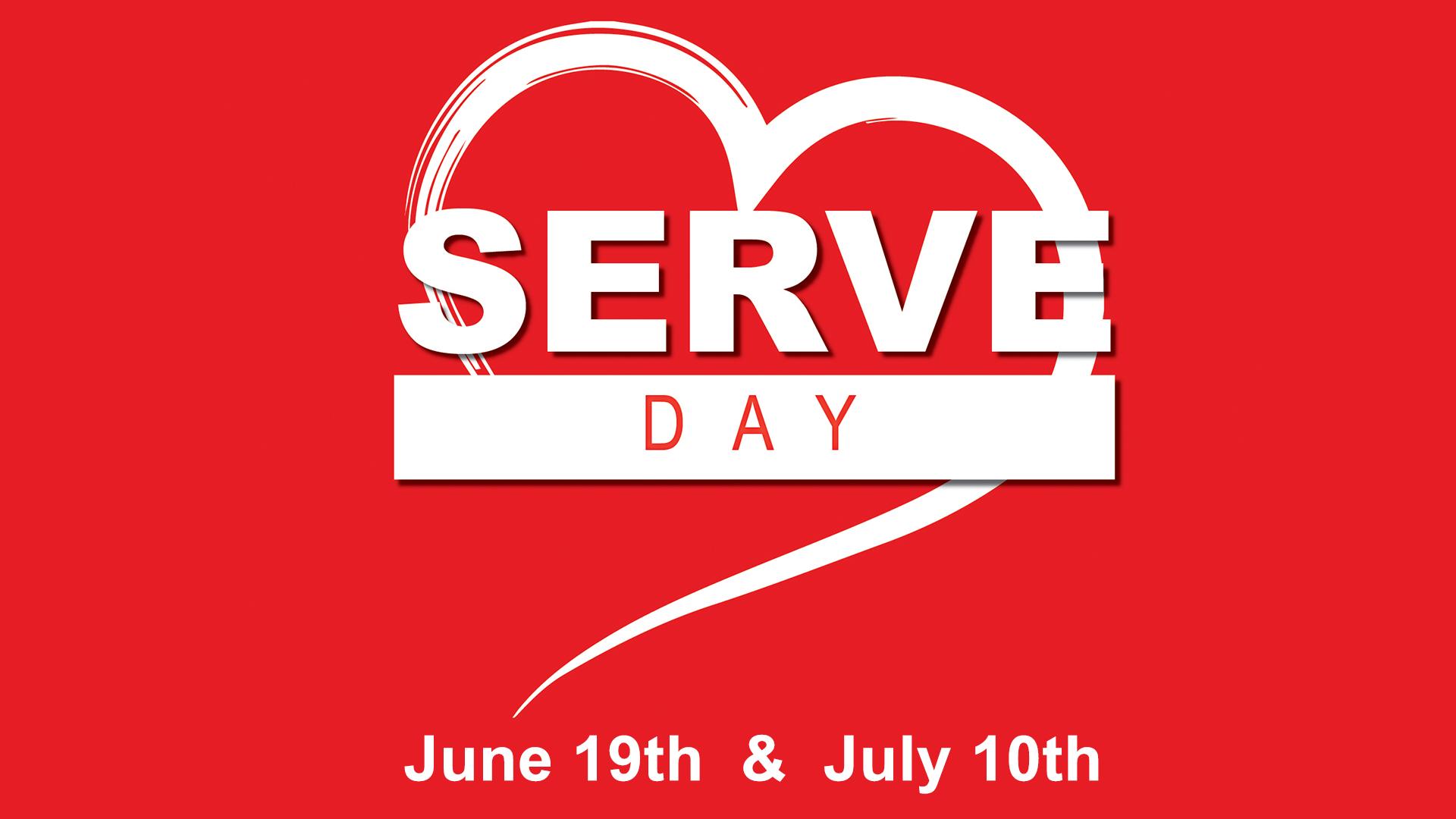 Summer Serve Days 6/19 & 7/10 2021